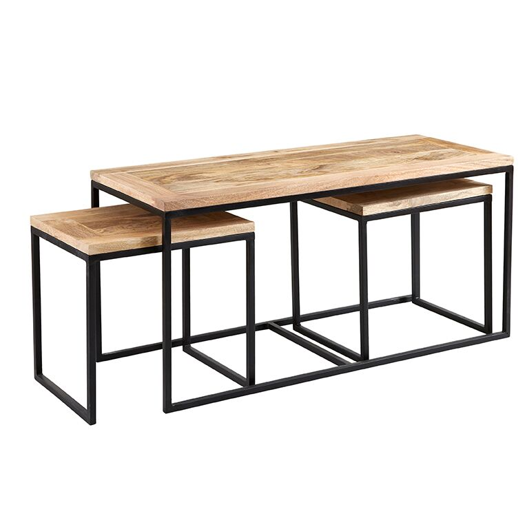Cosmo Industrial John Long Coffee Table Set