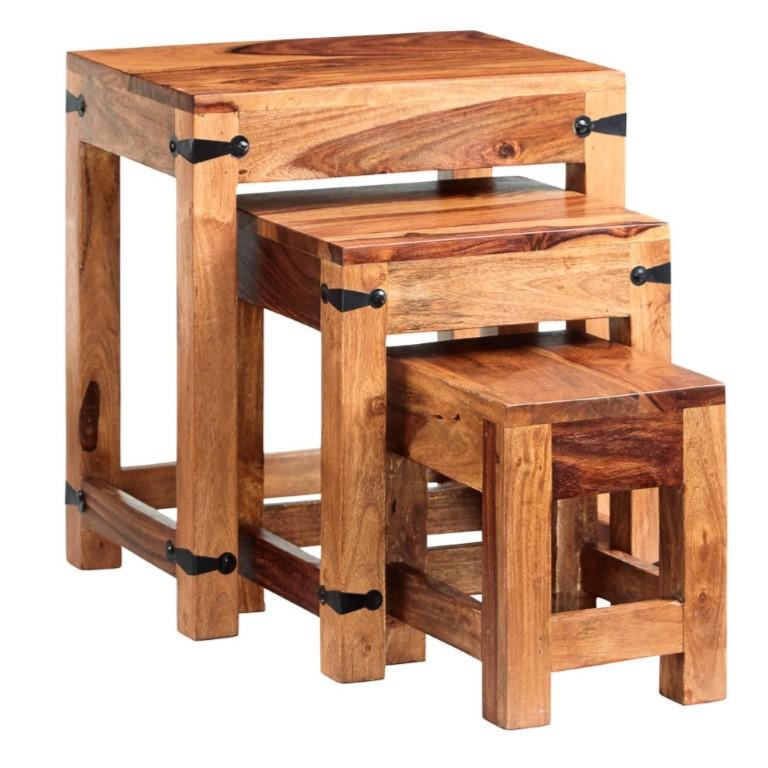 Jali Nest of 3 Tables