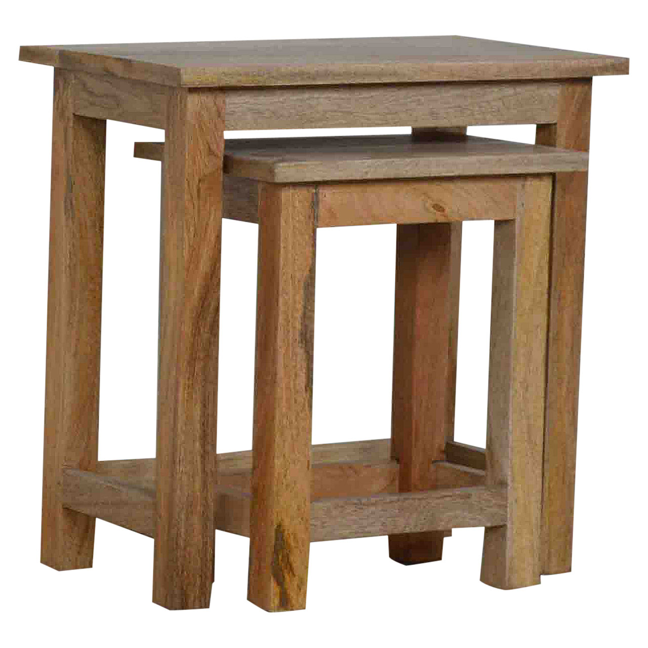 IN011 Stool Set Of 2 Nesting Tables