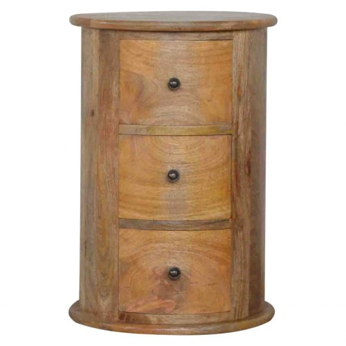 IN015 3 Drawer Slim Drum Chest