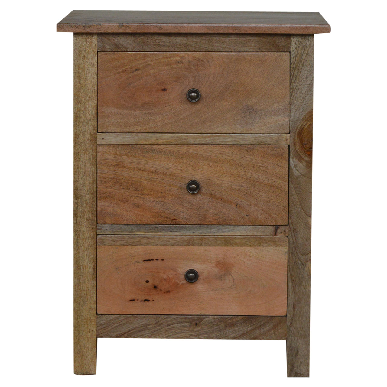 IN034 3 Drawer Bedside Table