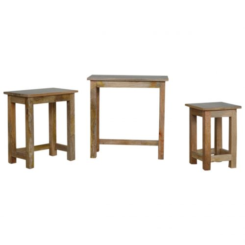 IN064 Nesting Table Stool Set Of 3