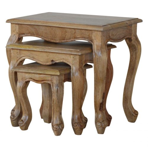 IN066 Solid Wood Stool Set Of 3 Tables
