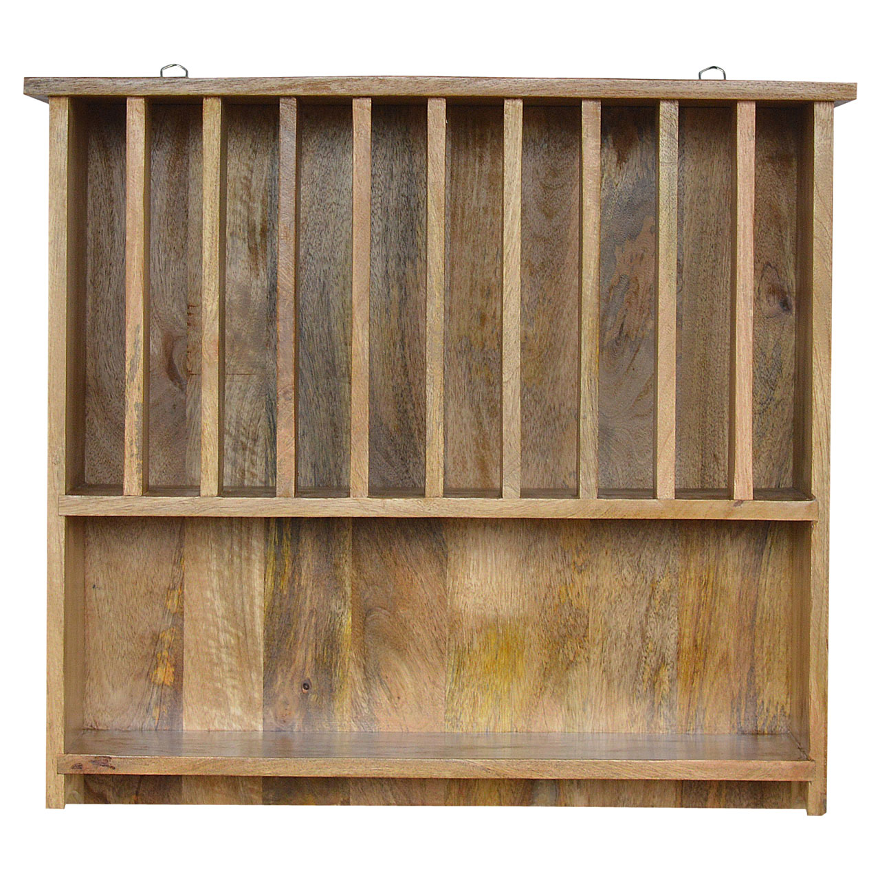 IN068 Wall Mounted Solid Wood Plate Rack