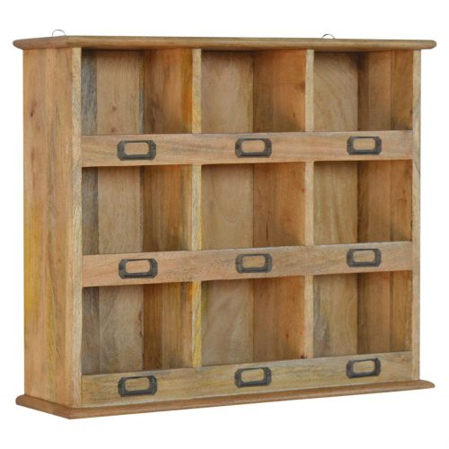 IN069 Solid Wood Wall Mounted Storage Unit