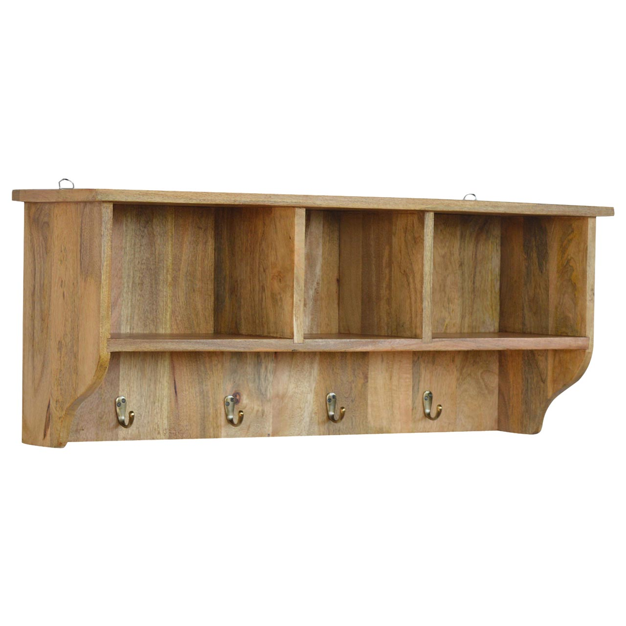 IN071 Solid Wood Wall Mounted Coat Rack