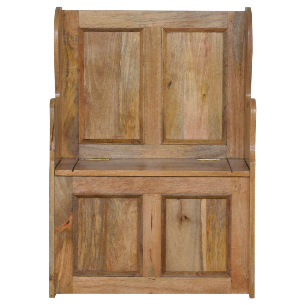 IN073 Small Wood Storage Hallway Monks Bench