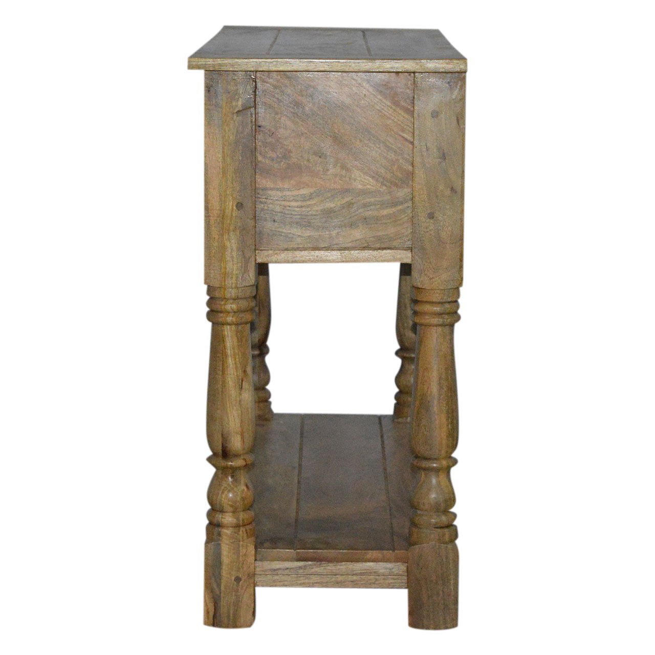 IN088 Solid Wood 2 Drawer Console Table