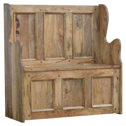 IN097 Solid Wood Large Monks Storage Bench