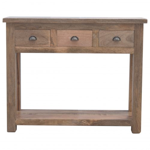 IN098 Solid Wood Hallway Console Table with 3 Drawers