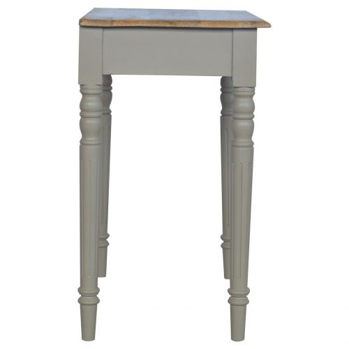 IN123 1 Drawer Writing Desk with Flute Legs