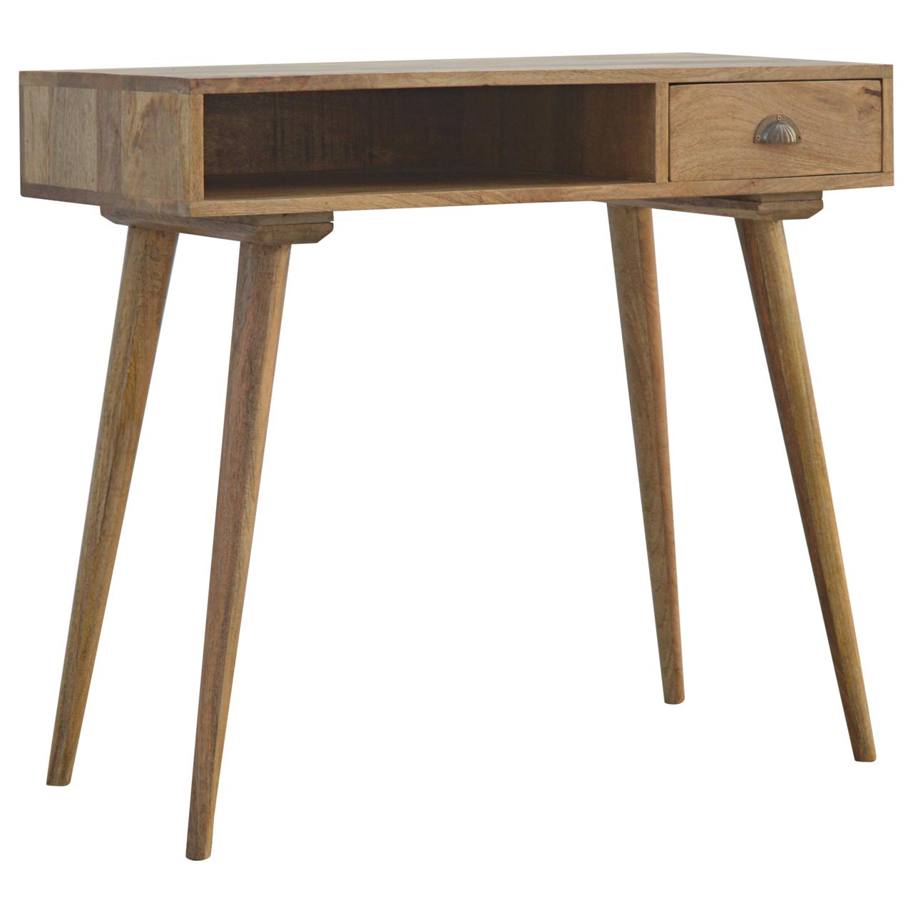 IN129 Solid Wood Open Shelf 1 Drawer Writing Desk