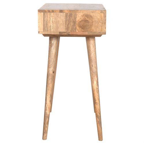 IN131 Solid Wood Open Shelf Writing Desk
