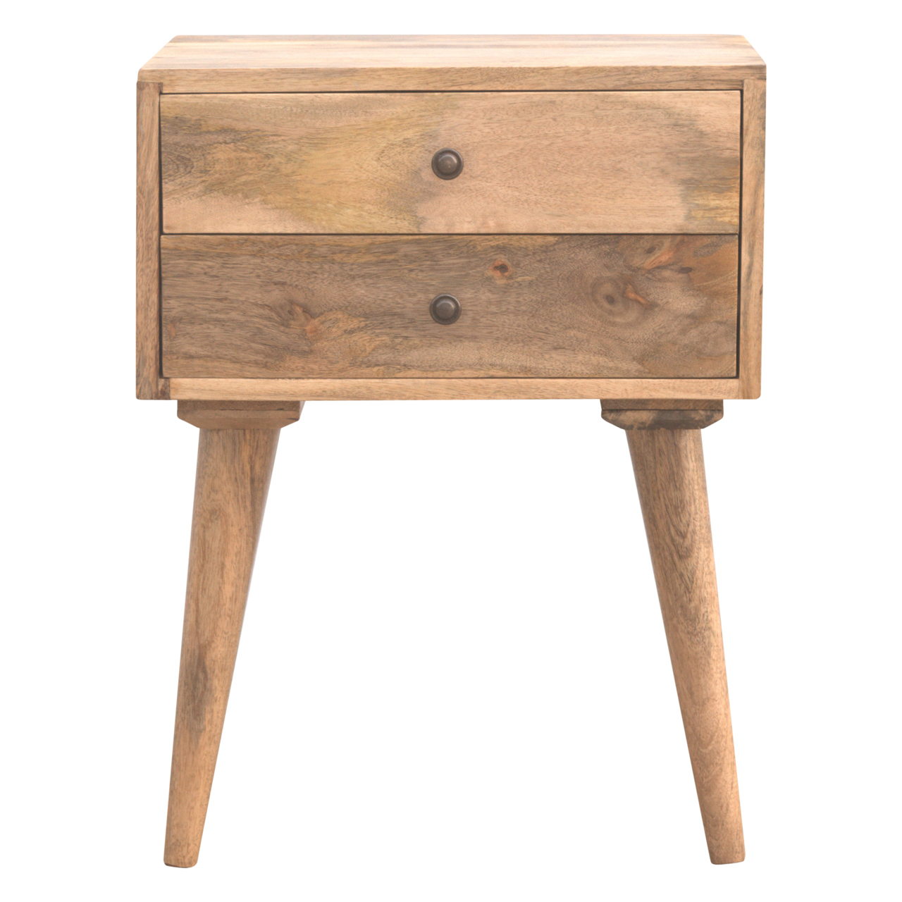 IN138 2 Drawer Solid Wood Bedside Table