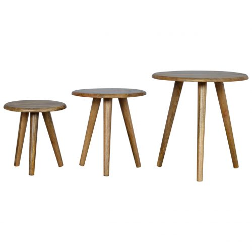 IN142 Scandinavian Style Nesting Table Set of 3