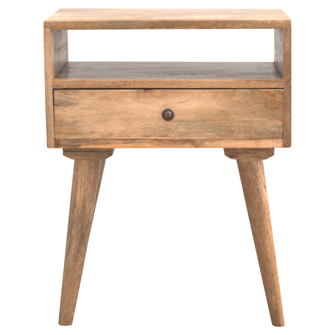 IN143 Nordic Designed Bedside with 1 Drawer & Open Slot
