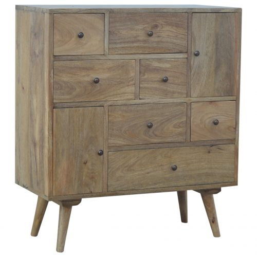 IN144 Scandinavian Styled Solid Wood Multi Drawer Cabinet