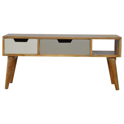IN182 Nordic Style Media Unit with Painted Drawer Fronts