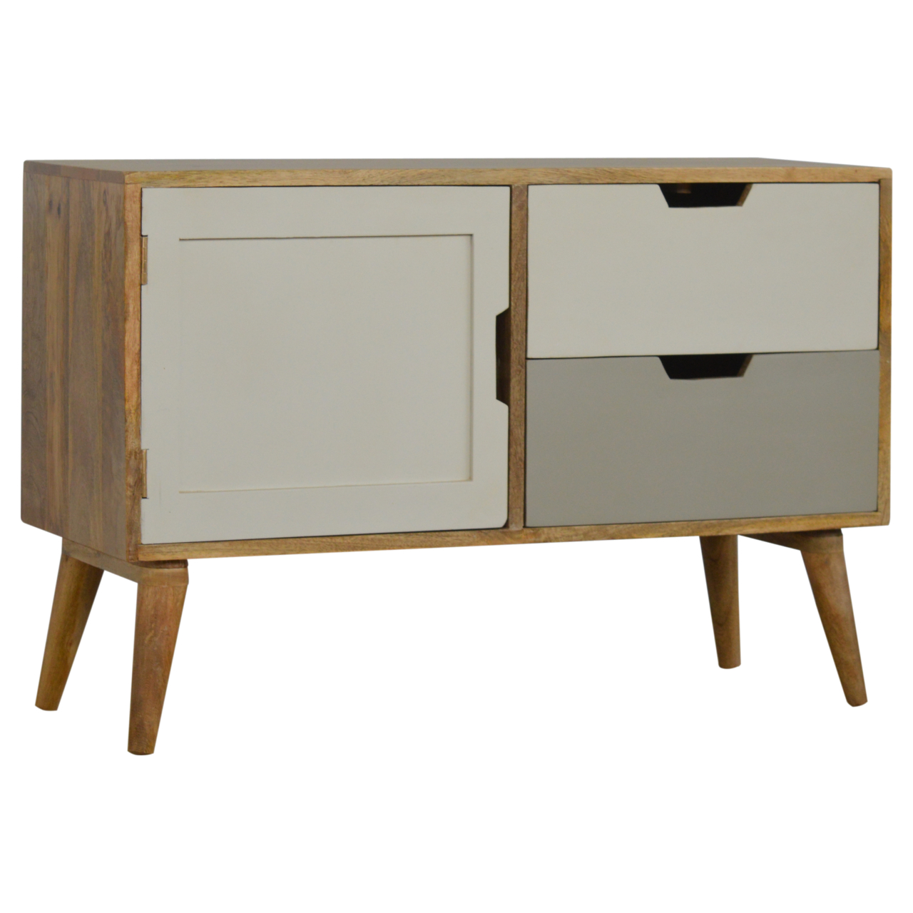 IN185 Nordic Style Media Unit with Painted Drawer Fronts