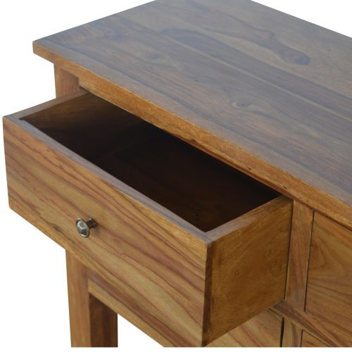 IN193 Solid Sheesham Wood Narrow Console Table