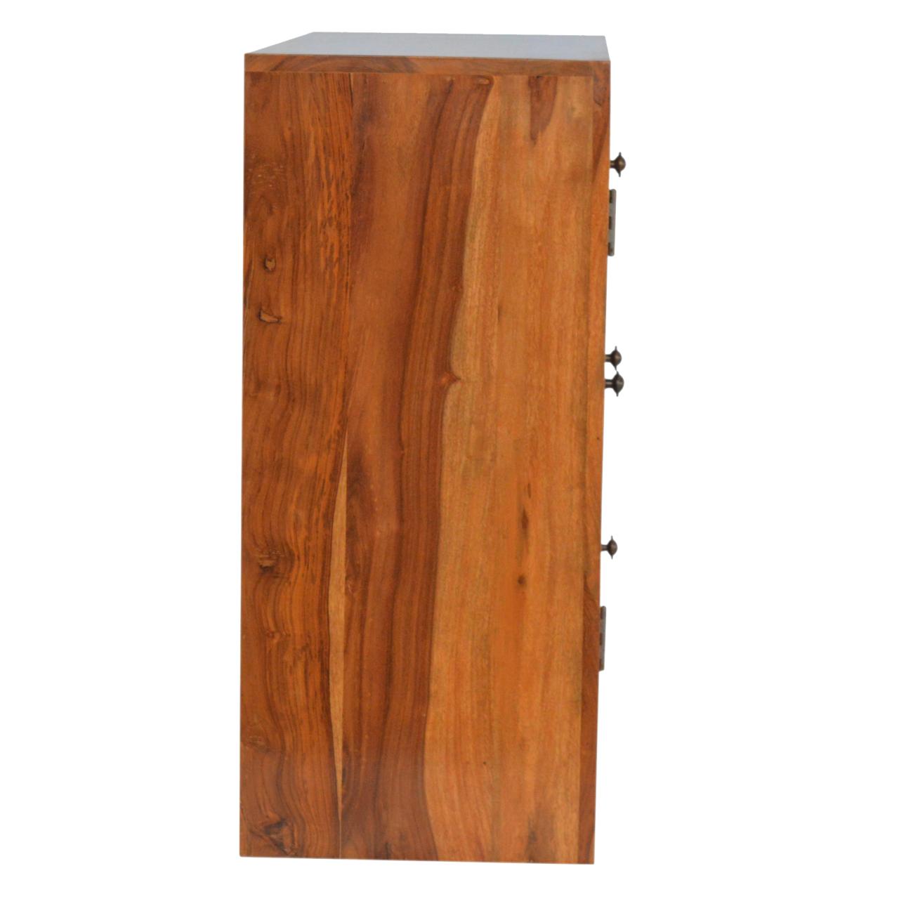 IN198 Sheesham Wood 3 Drawer 1 Door Cabinet