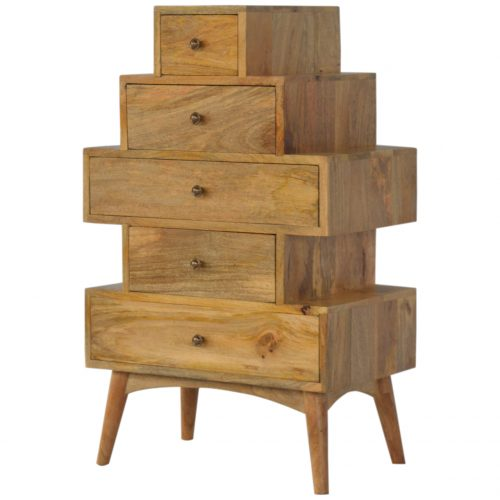 IN216 Scandinavian Style Tower Drawer Cabinet