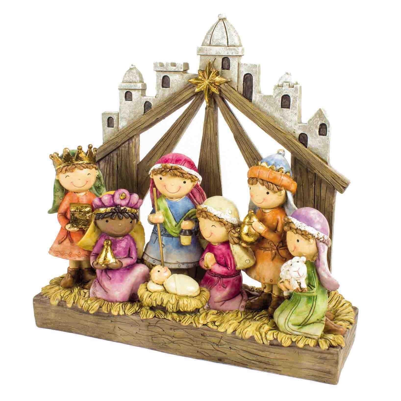 Resin Nativity Scene Dec