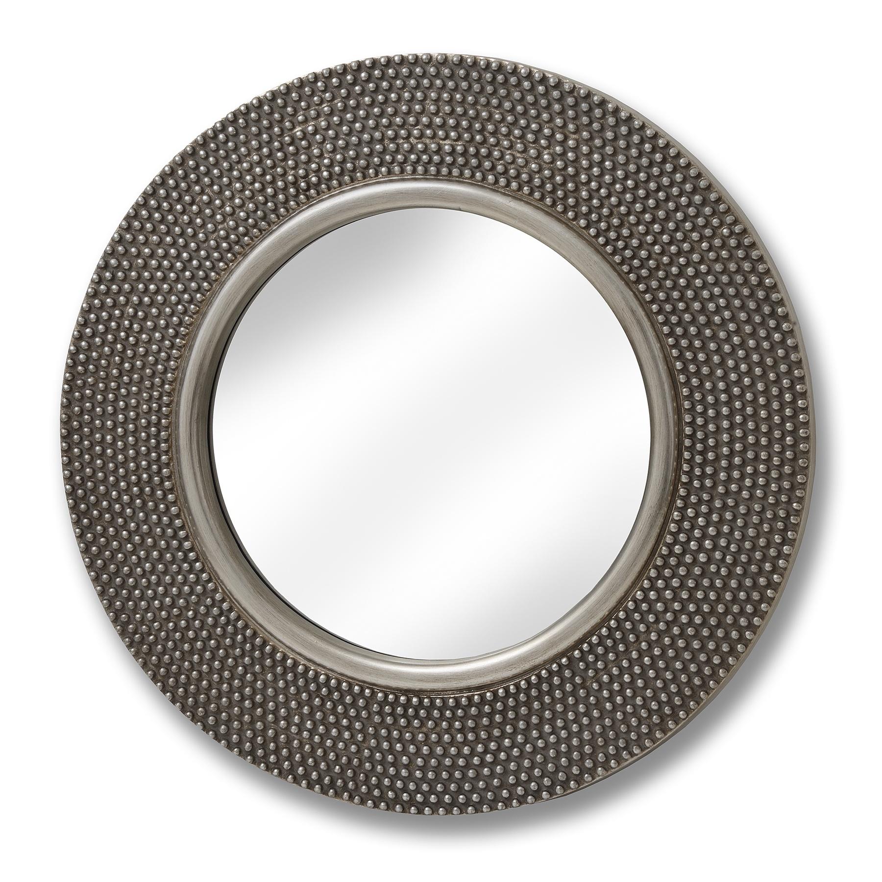 Large Circular Beaded Mirror