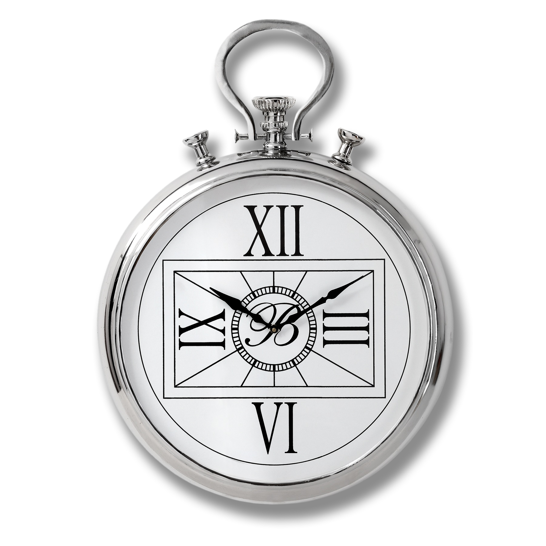 Large Nickel Pocket Watch Clock