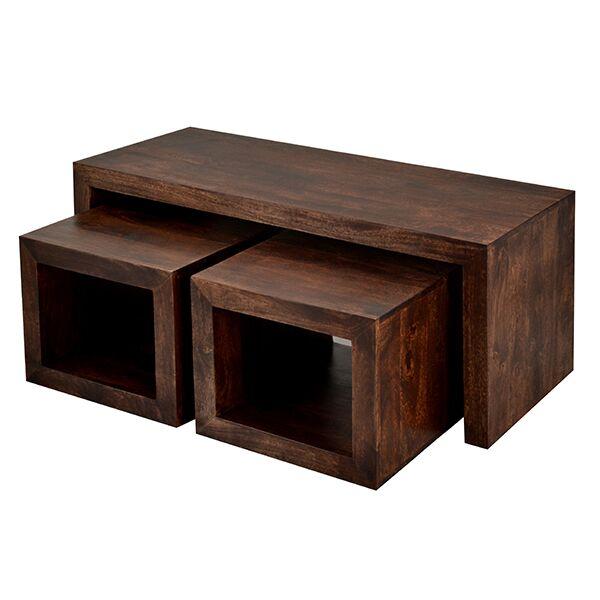 Toko Dark Mango Cubed John Long Coffee Table Set