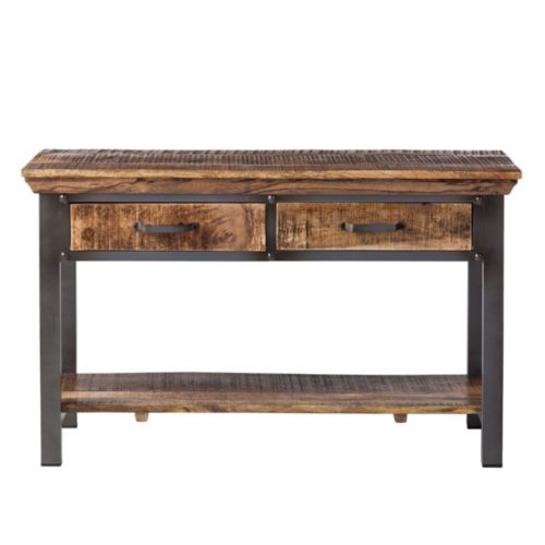 Metropolis Industrial 2 Drawer Console Table