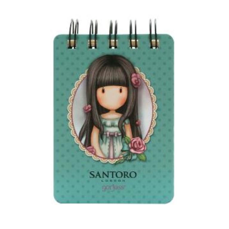 Mini Wiro Bound Notebook - Rosie - Back