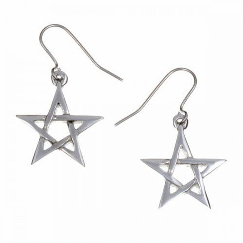 St Justin Small Pentagram Earrings