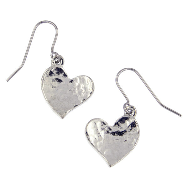 St Justin Heartbeat Beaten Heart Earrings