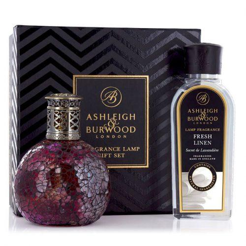 Ashleigh & Burwood: Fragrance Lamp Gift Set - Rose Bud & Fresh Linen