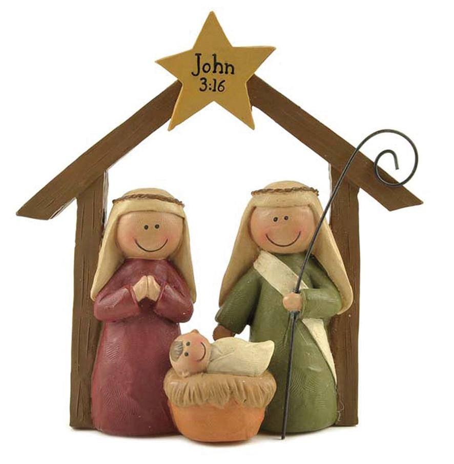 Family & Manger Ornament