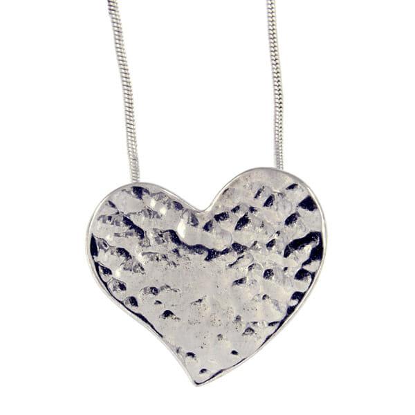 St Justin Heartbeat Small Beaten Heart Pendant