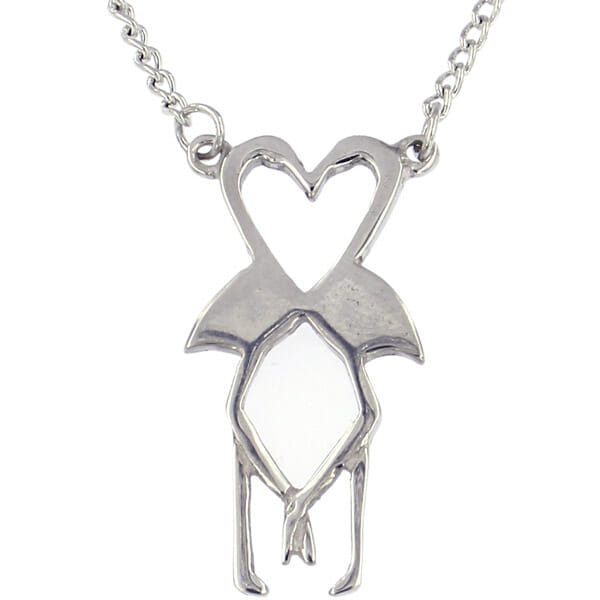St Justin Flamingo Heart Necklace