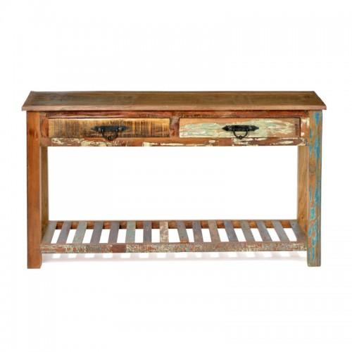 Reclaimed Slatted Hall Table
