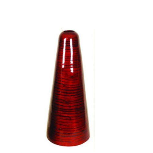 Red Oil Cone Vase - Smal