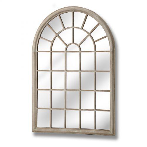 Rustic Arched Garden Window Mirror