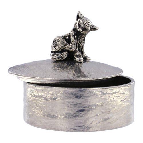 St Justin Grooming Cat Trinket Box