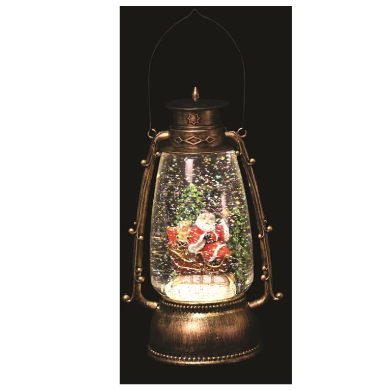 Santa Glitter Lantern 24.5cm