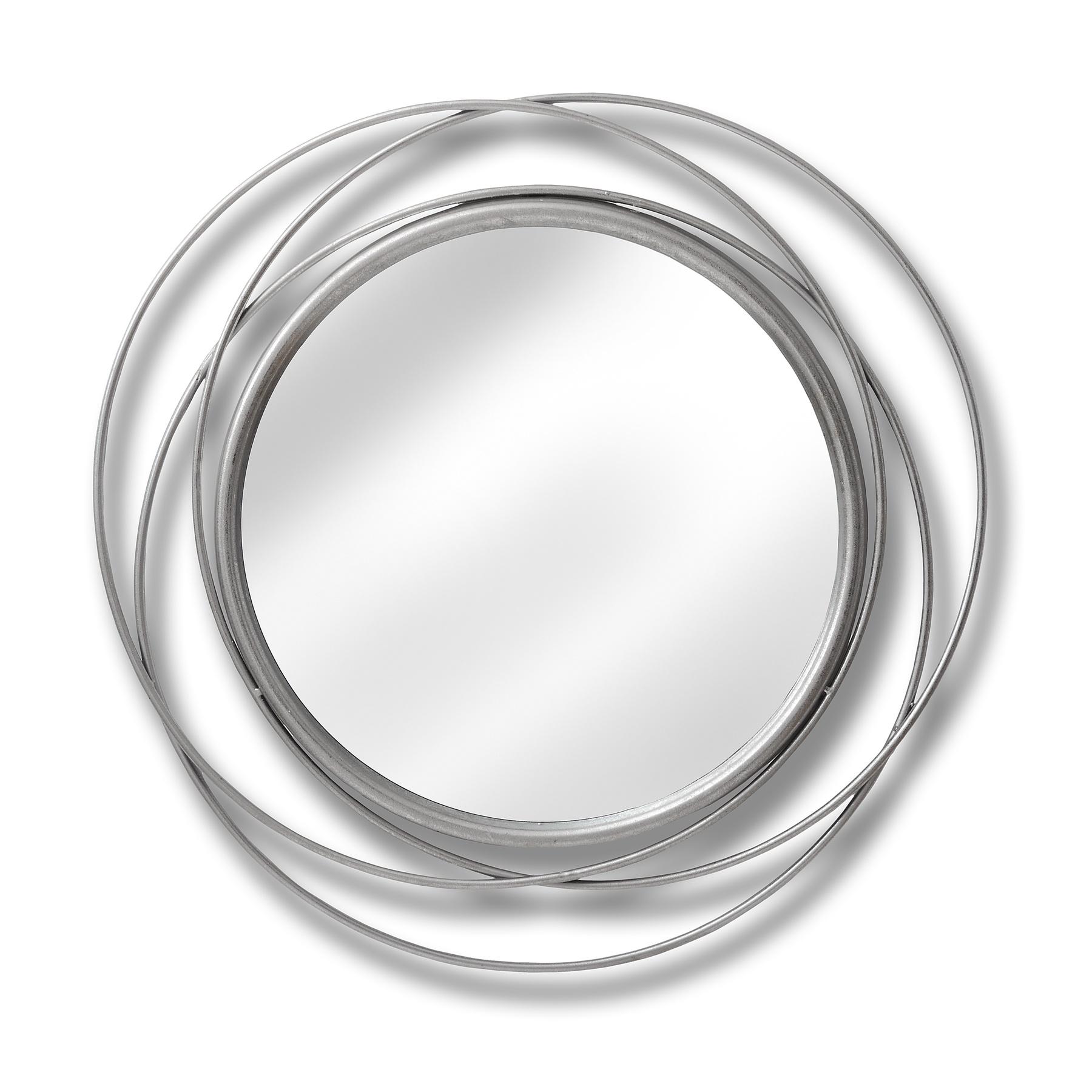Silver Circled Wall Art Mirror