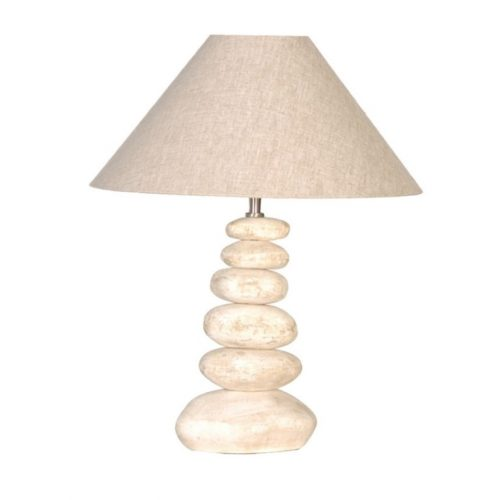 Small Stacked Pebble Lamp With Shade