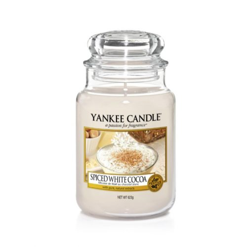 Spiced White Cocoa Large Jar Yankee Candle
