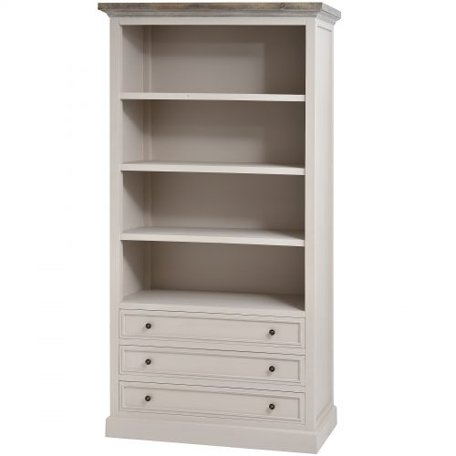 The Studley Collection Large Three Drawer Bookcase