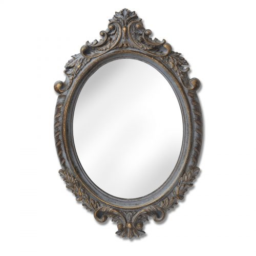 Through the Looking Glass Small Baroque Round Mirror