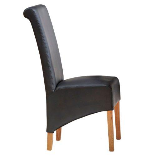 Toko Light Mango Leather Dining Chair