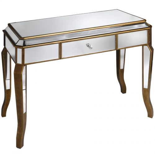 Venetian Mirrored Dressing Table With Large Drawer